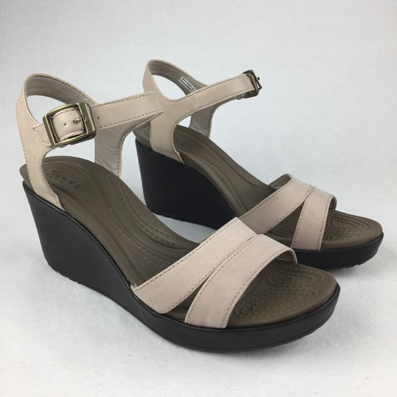 d8f0a94aaba CROCS Shoes - Crocs Leigh II Ankle Strap Wedge Women s 7